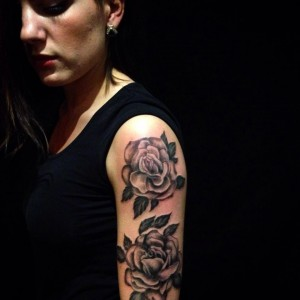 Sleeve Girl Tattoo, Roses BnG